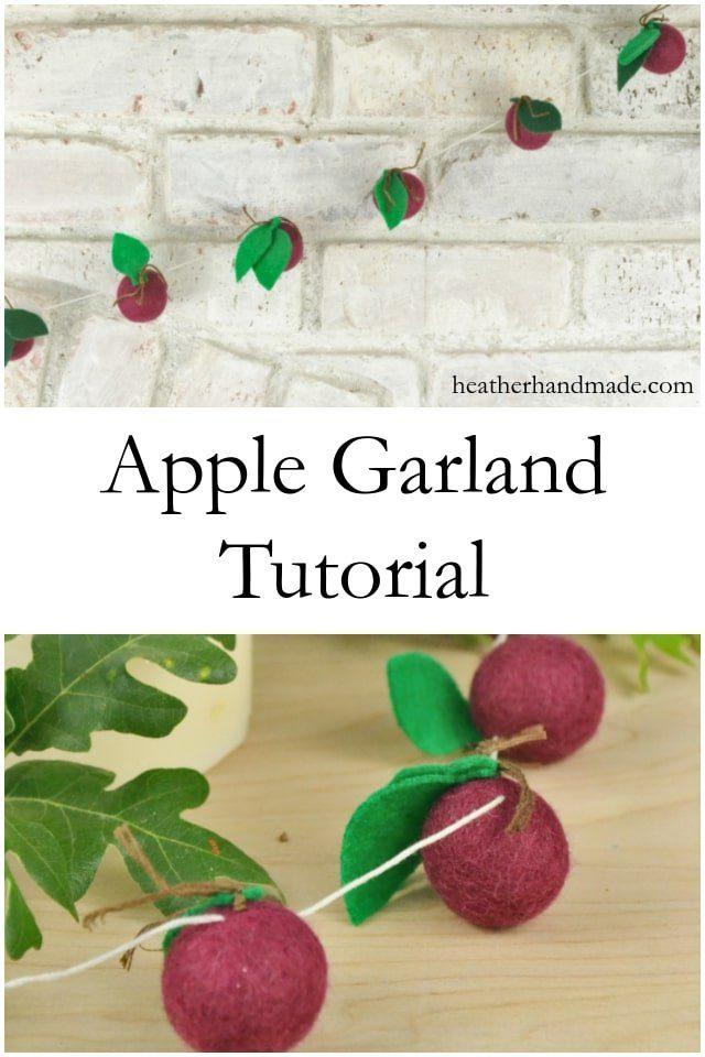 Apple Garland Tutorial // heatherhandmade.com