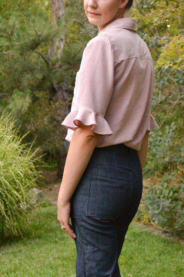 Denim Lander Pants + Rayon Cheyenne Tunic // heatherhandmade.com