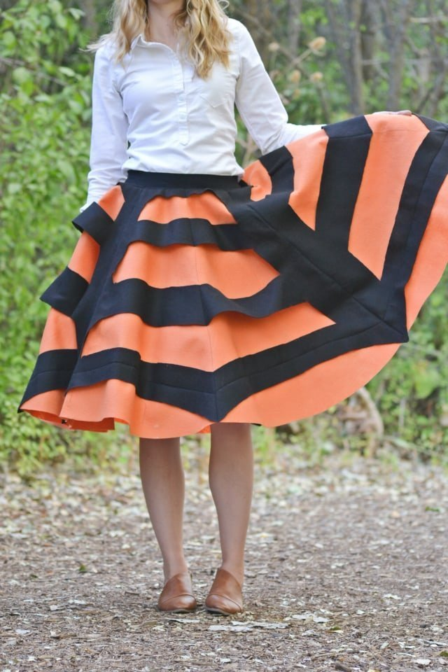 Spider Web Skirt Tutorial: Easy Halloween Skirt