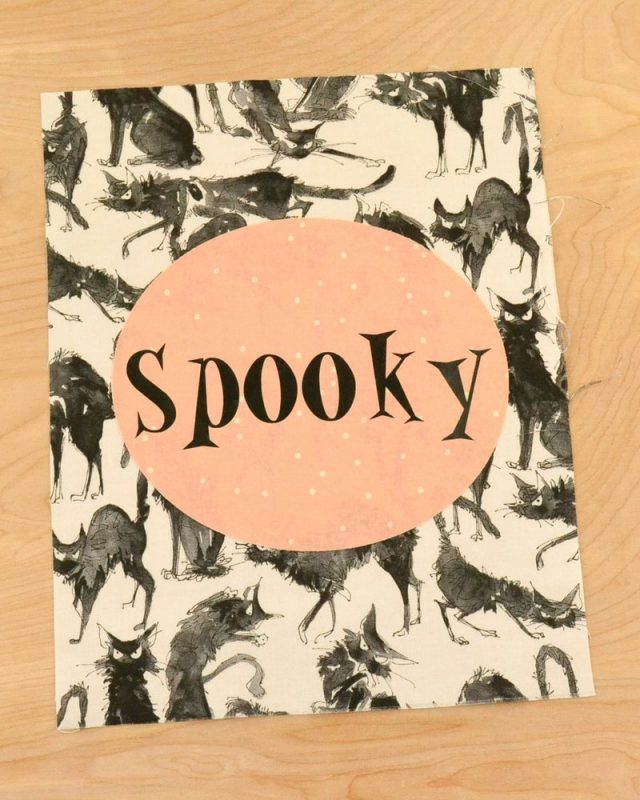 Spooky Halloween Sign Tutorial // heatherhandmade.com