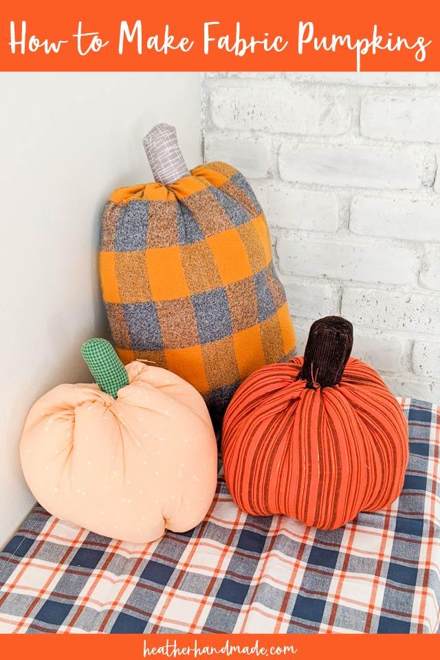 how to make fabric pumpkin