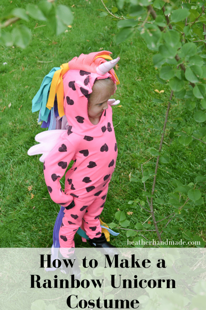 How to Make a Rainbow Unicorn Costume
