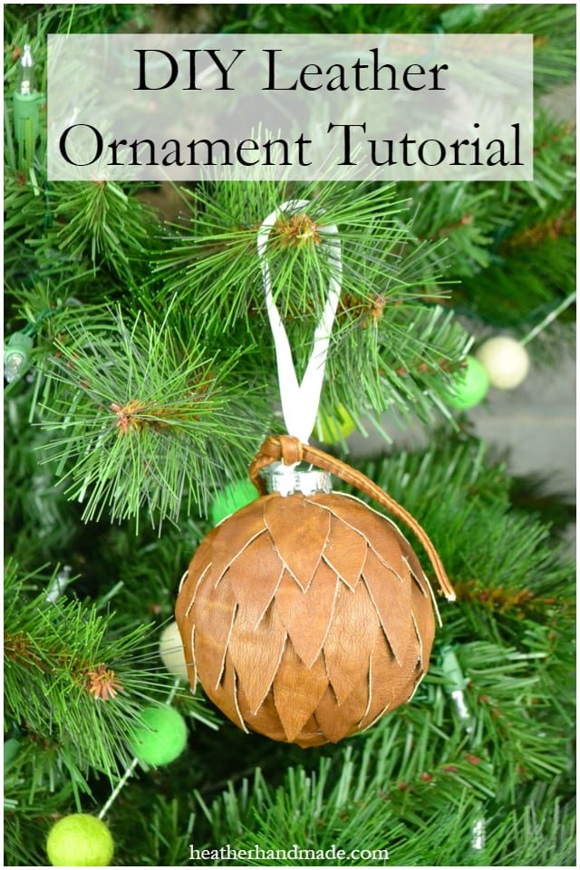DIY Leather Ornament Tutorial // heatherhandmade.com