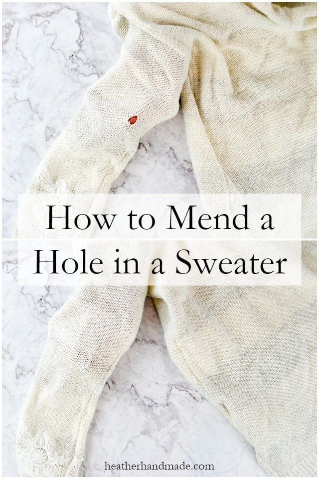 How to Fix a Hole in a Sweater