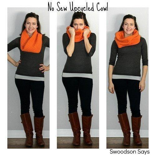 No Sew Winter Cowl DIY