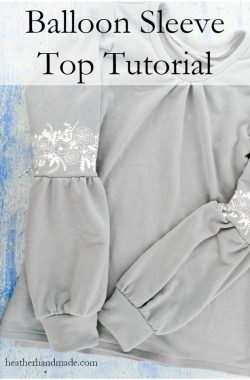 Balloon Sleeve Top Tutorial // heatherhandmade.com