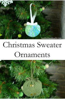 Christmas Sweater Ornaments // heatherhandmade.com