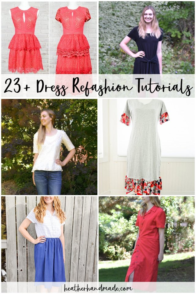 dress refashion tutorials