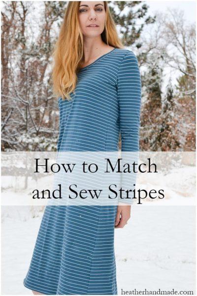 How to Match Stripes // heatherhandmade.com