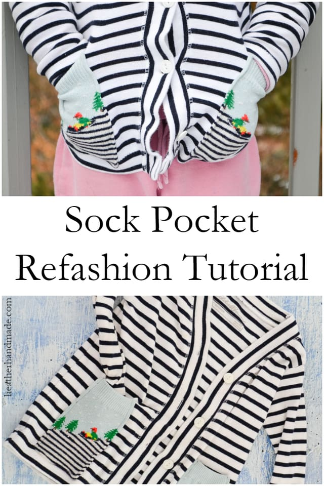 Refashion Socks into Pockets