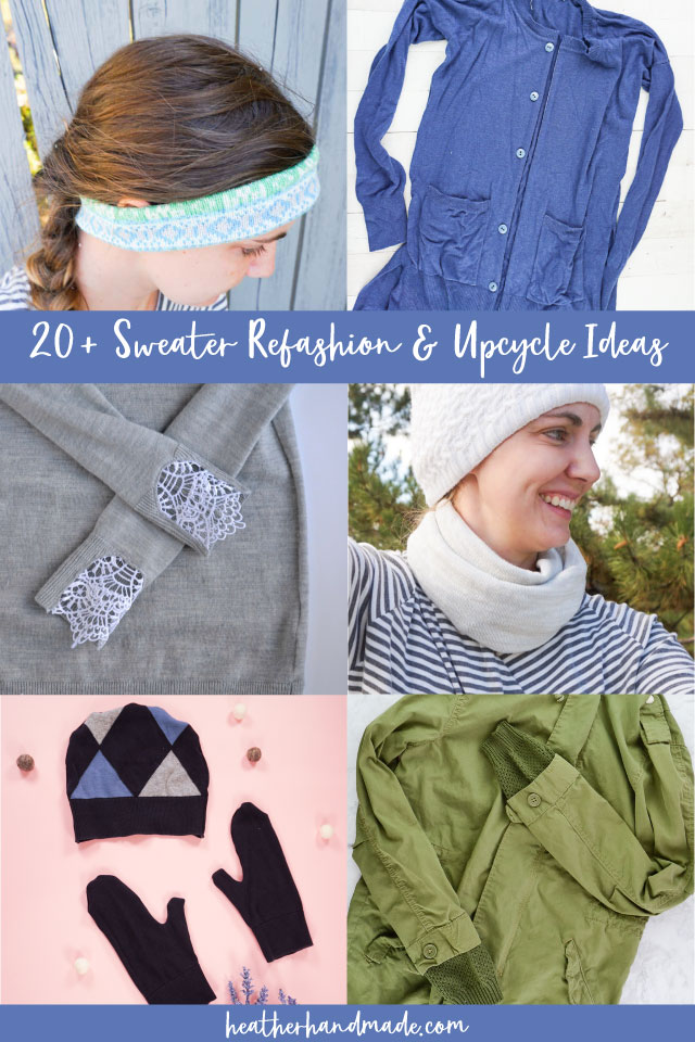 sweater refashion and upcycle ideas
