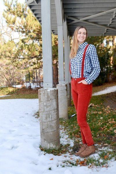 Rust Corduroy Ash Jeans // heatherhandmade.com