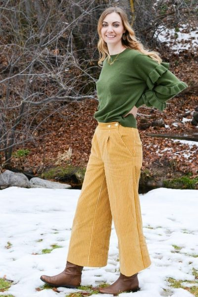 Corduroy Flint Pants // heatherhandmade.com