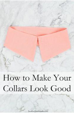 How to Sew a Collar Professionally // heatherhandmade.com