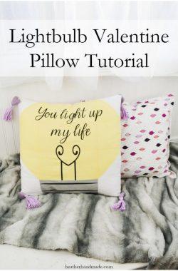 Pieced Valentine Pillow Tutorial with Cricut // heatherhandmade.com