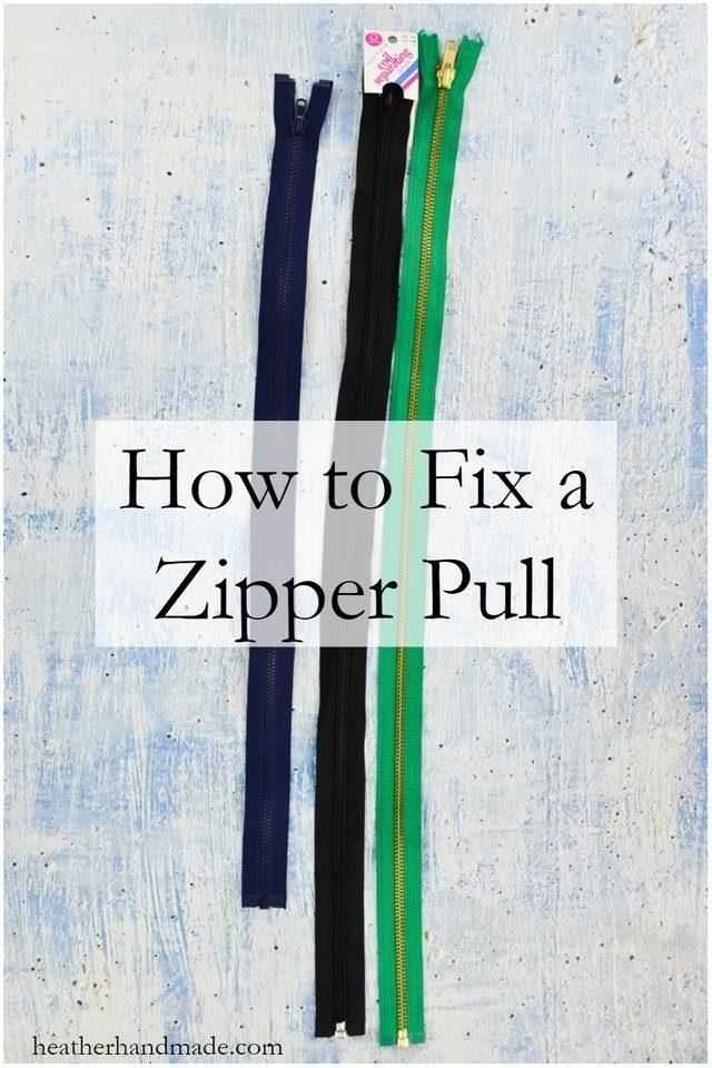How to Fix a Zipper // heatherhandmade.com