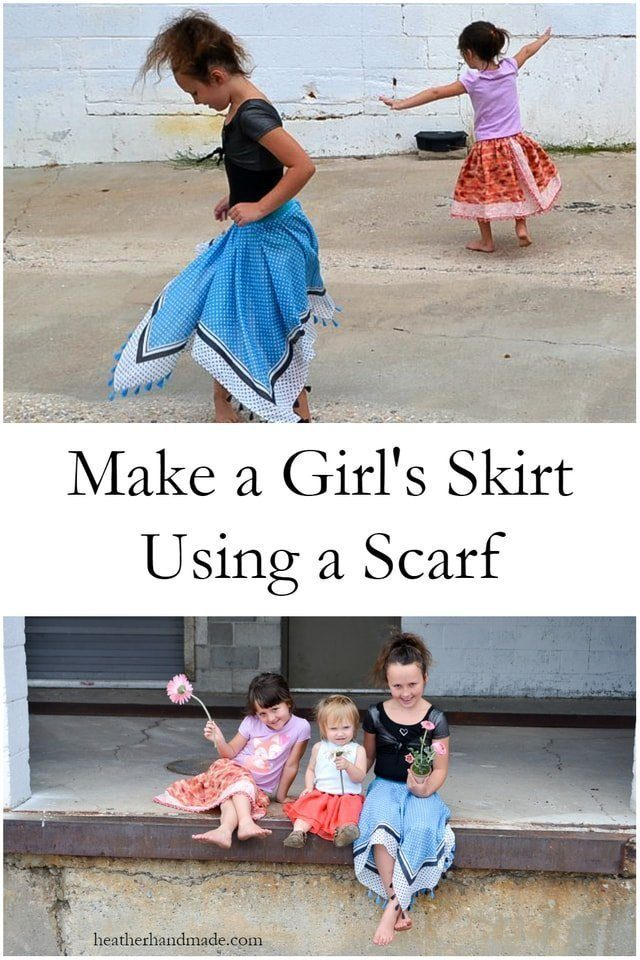 Refashioned Skirt Tutorial with Scarves // heatherhandmade.com