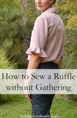 How to Sew a Ruffle Without Gathering // heatherhandmade.com