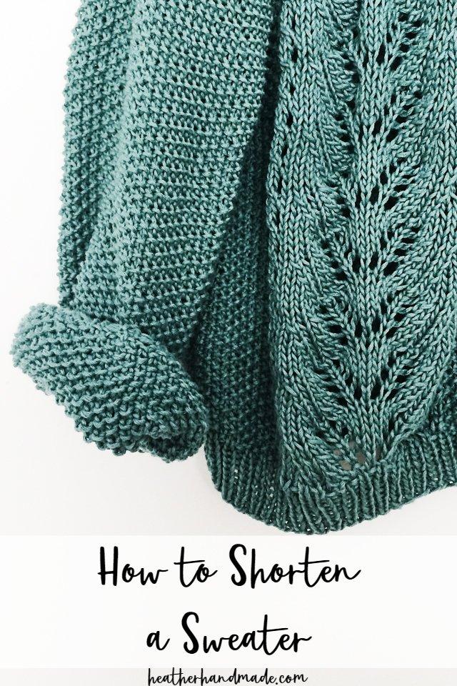 how to shorten sweater