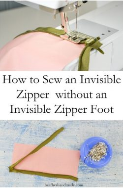 How to Sew an Invisible Zipper without an Invisible Zipper Foot // heatherhandmade.com