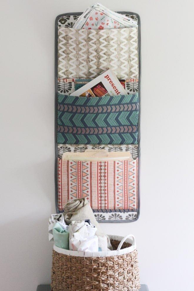 DIY Fabric Wall Organizer