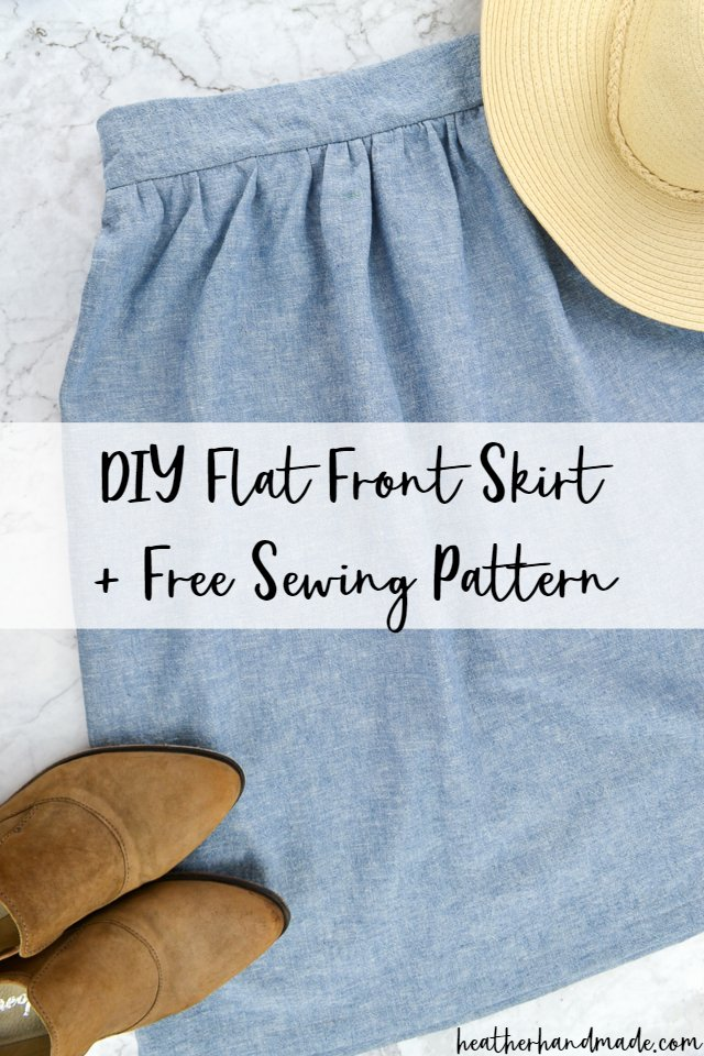 free skirt sewing pattern flat front