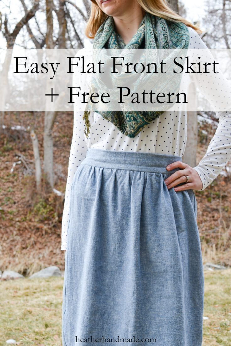 Easy Flat Front Skirt + Free Pattern