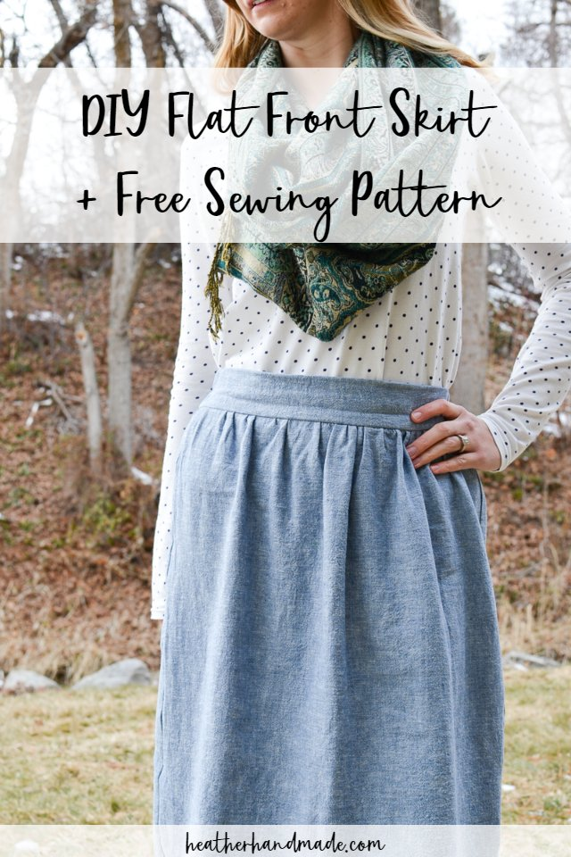 Diy flat front skirt + free sewing pattern