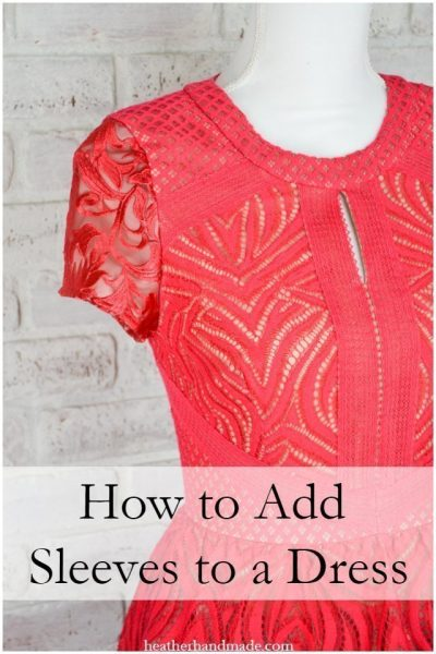 How to Add Sleeves to a Dress // heatherhandmade.com