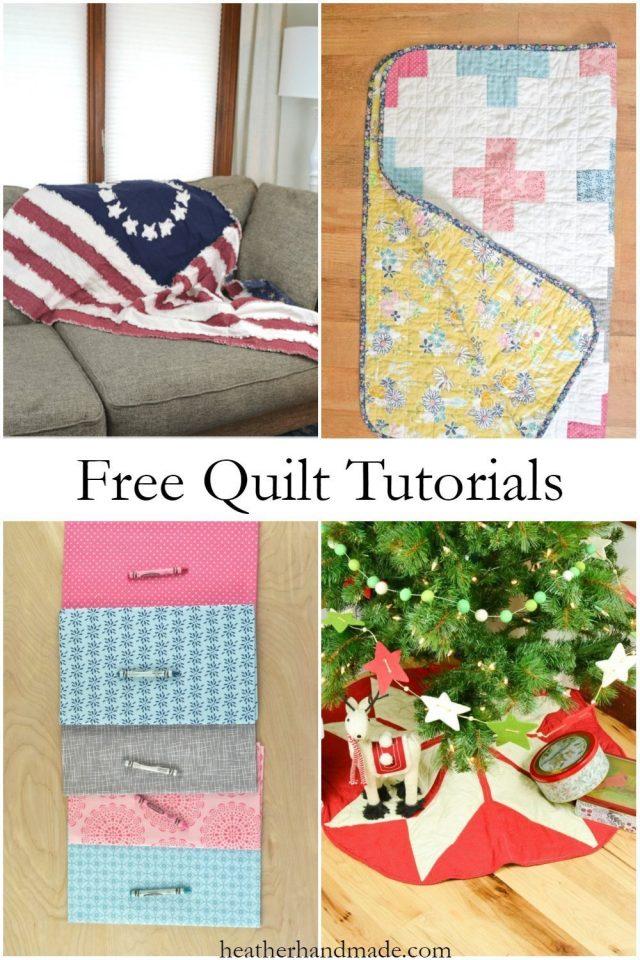 Free Quilt Tutorials // heatherhandmade.com