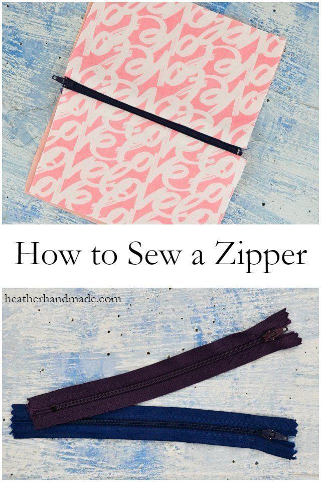 How to Sew a Zipper // heatherhandmade.com