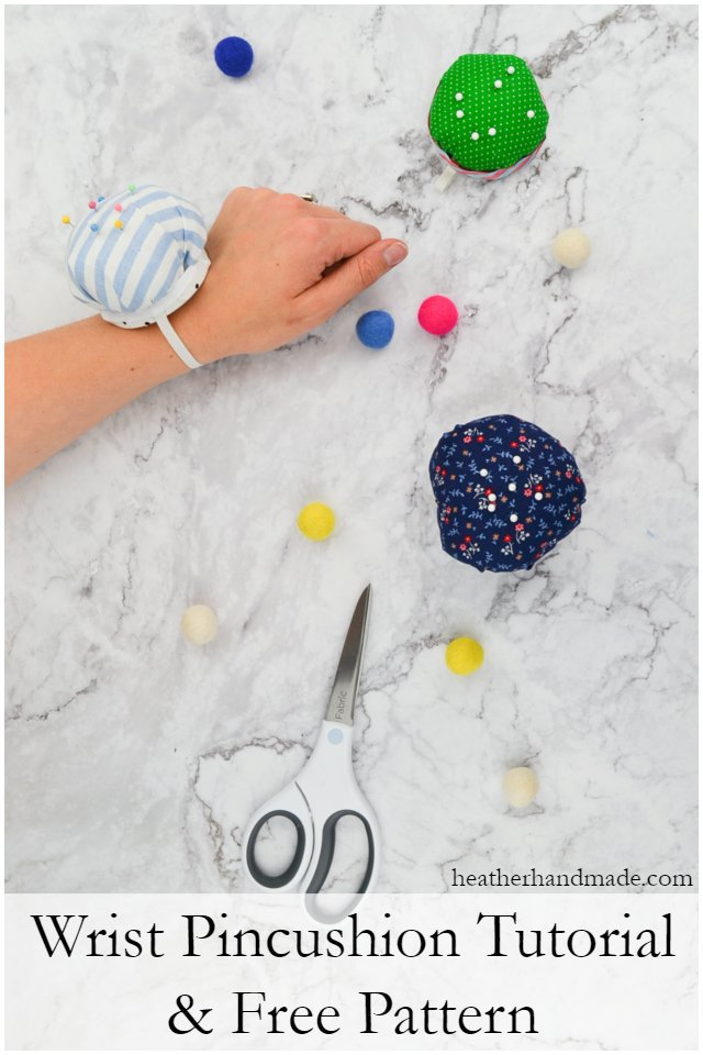 Wrist Pincushion Tutorial + Free Pattern