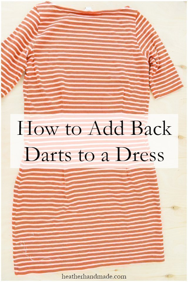 How to Add Back Darts to a Dress
