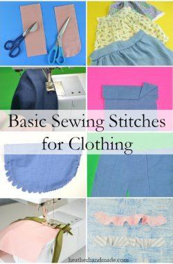 basic sewing stitches