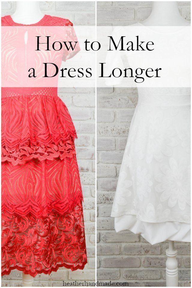 How to Make a Dress Longer // heatherhandmade.com