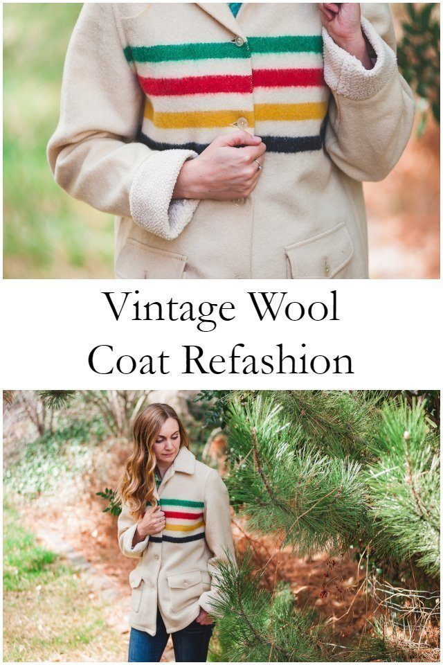 Hudson Bay Wool Coat Refashion // heatherhandmade.com