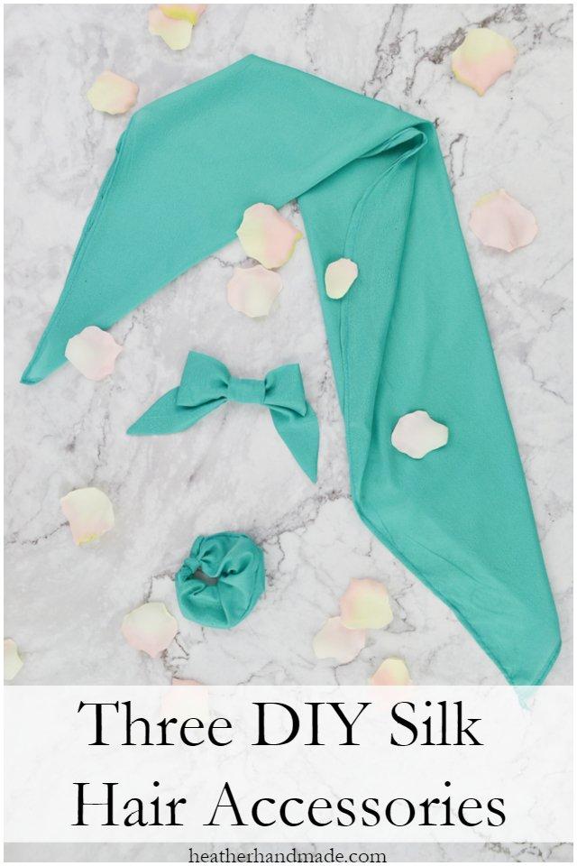 3 diy silk hair accessories