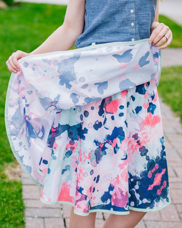 wrap skirt that doesn't flip up