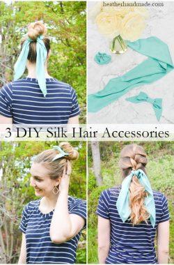 diy silk hair accessories