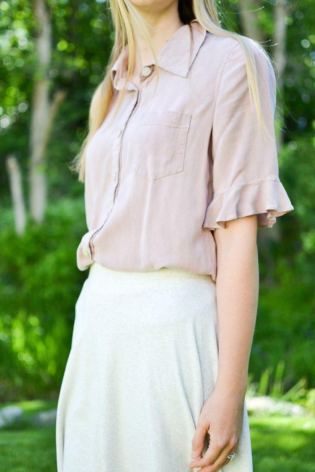 thick waistband half circle skirt