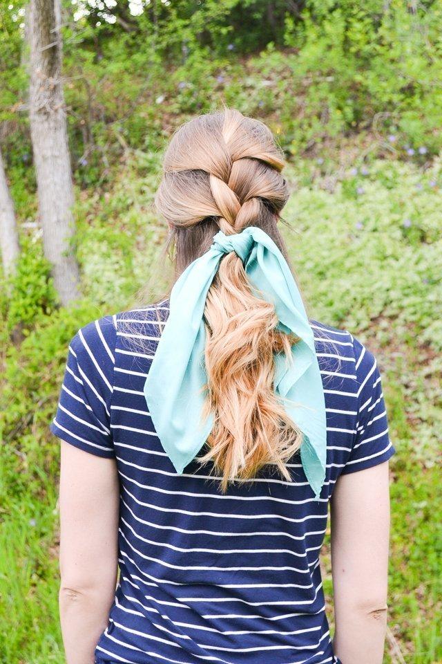 hair braid hair scarf
