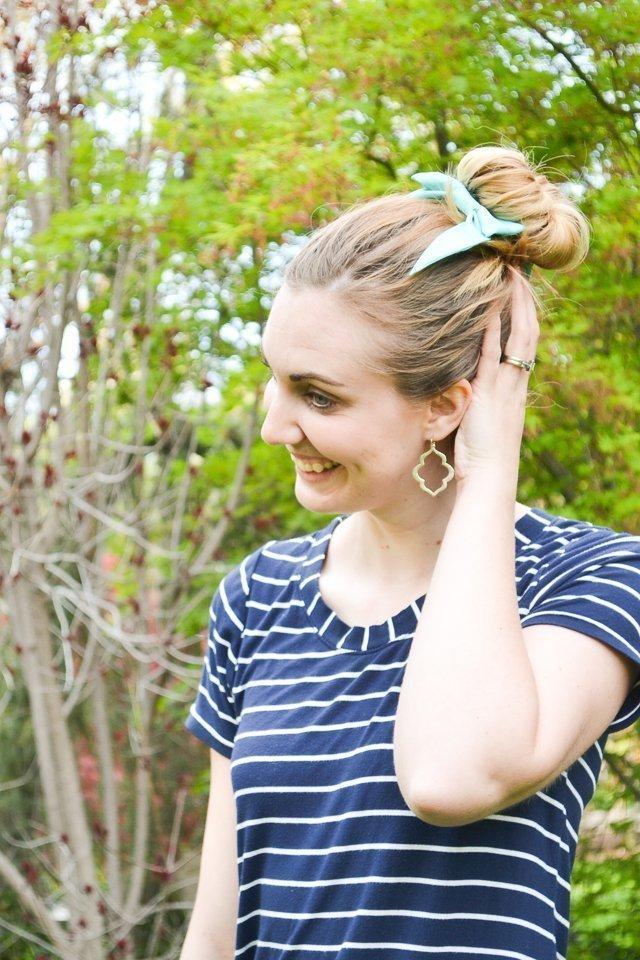 hair bun silk bow