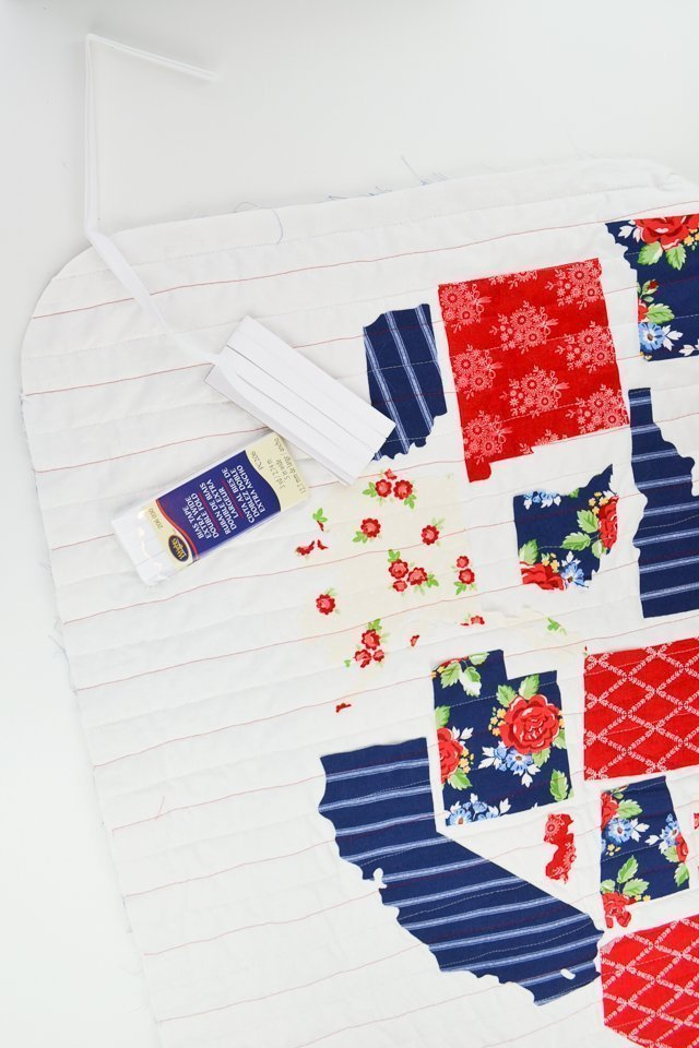 bias binding on quilt edge
