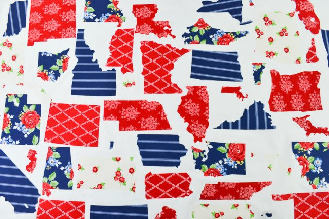 fuse patchwork quilt pieces