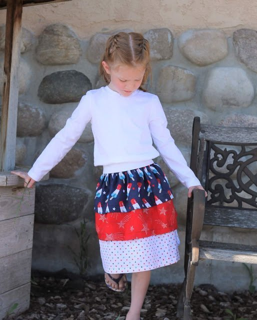 Ruffled Skirt with Fat Quarters