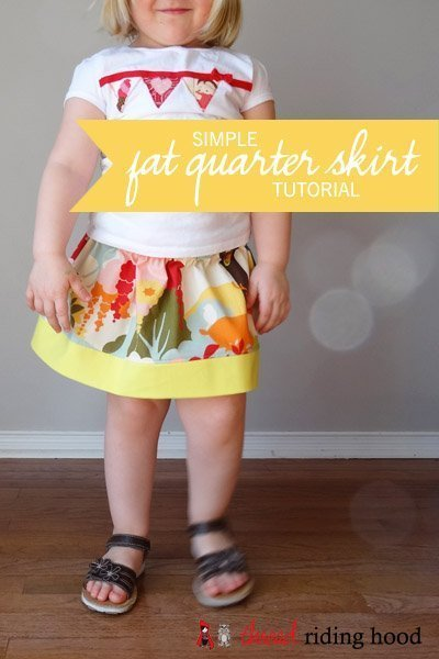 Simple Fat Quarter Skirt {a tutorial}