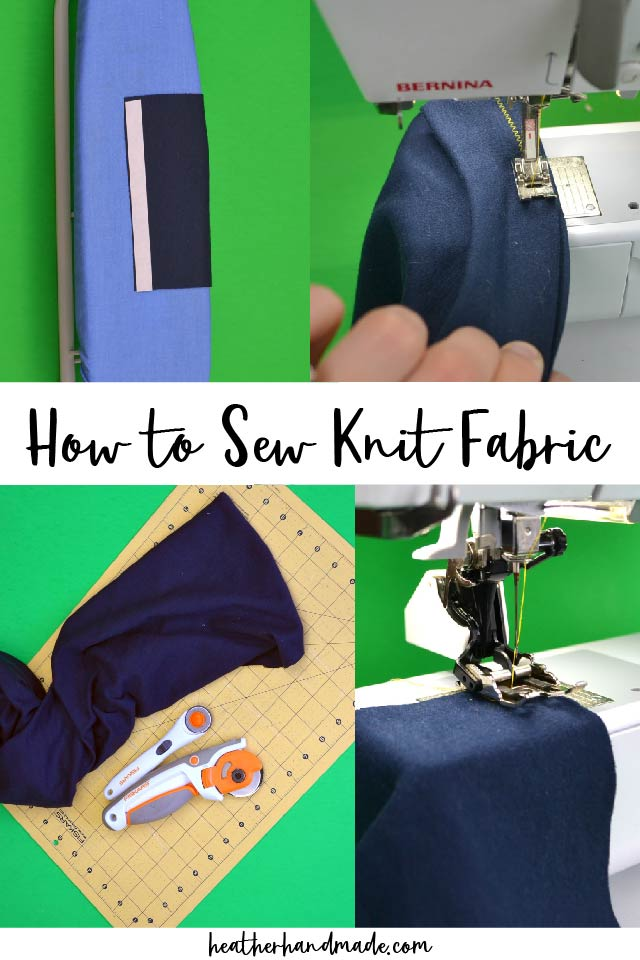 how to sew knit fabric