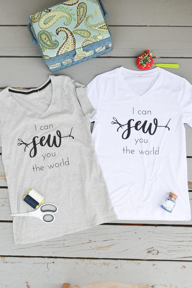 sewing graphic tees