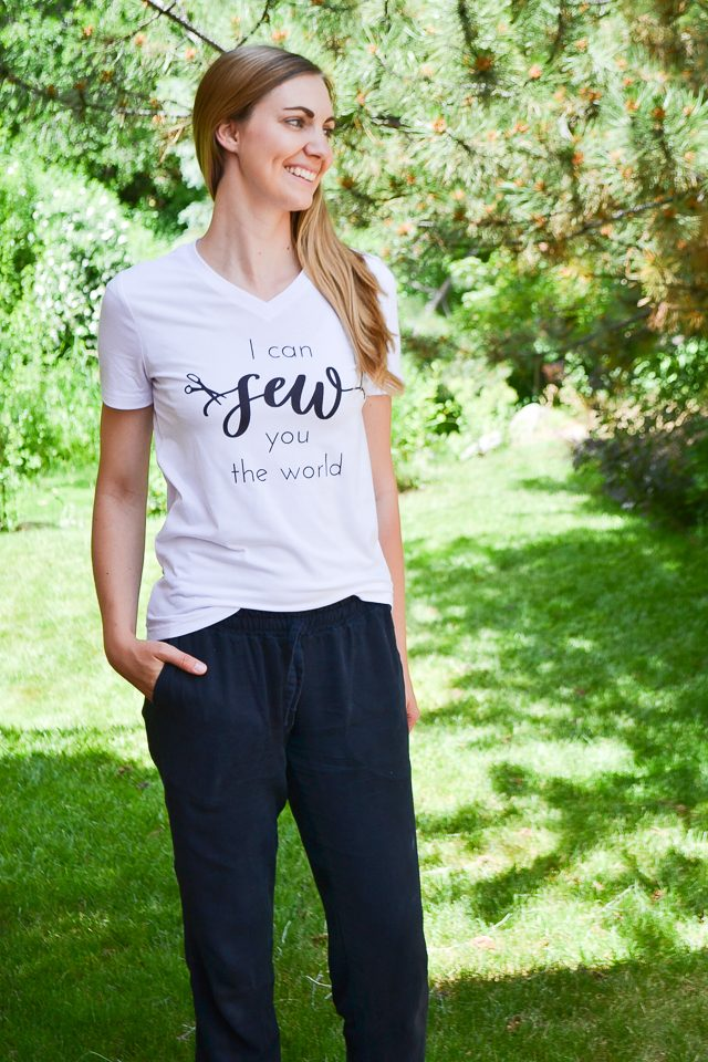 infusible ink sewing graphic tee