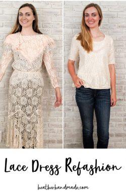lace dress refashion